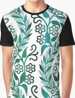 Vintage Floral Embroidery Graphic T-Shirt