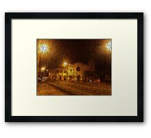 Nocturnal Town Framed Print