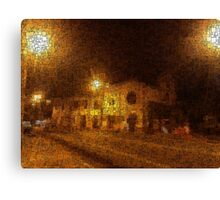 Nocturnal Town Canvas Print