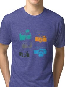 Vintage Cameras - The 35mm Rangefinder Tri-blend T-Shirt