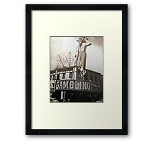Old Downtown Las Vegas Framed Print