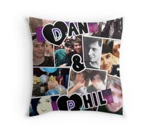 Dan and Phil Collage Throw Pillow