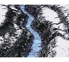 Blue Water On Ice Photographic Print