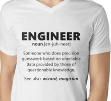 """Engineer"" funny definition Mens V-Neck T-Shirt"