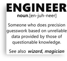 """""""Engineer"""" funny definition Canvas Print"""