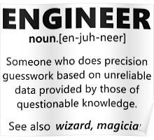 """""""Engineer"""" funny definition Poster"""