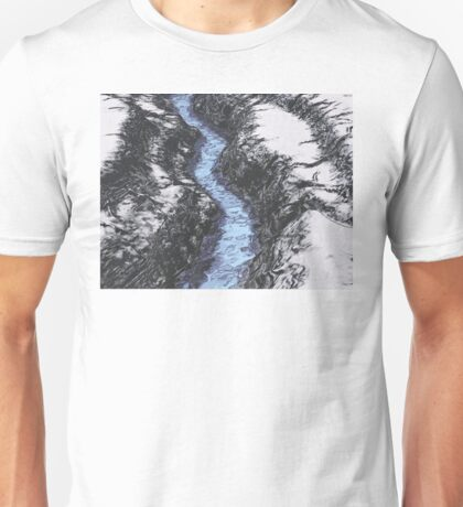 Blue Water On Ice Unisex T-Shirt