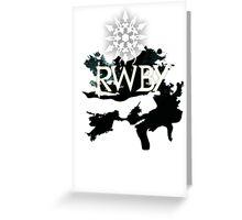 RWBY white snow Greeting Card
