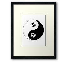 Kakashi Obito yin and yang Framed Print