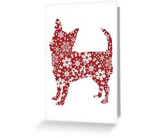 Christmas Snowflakes Chihuahua Greeting Card