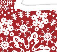 Christmas Snowflakes Chihuahua Sticker