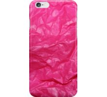 Hot Pink Tissue iPhone Case/Skin