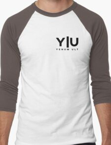 Yenum Ult Black Alternative Men's Baseball ¾ T-Shirt