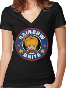 Rainbow Brite Women's Fitted V-Neck T-Shirt