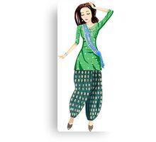Dancing Bollywood Indian Girl Canvas Print