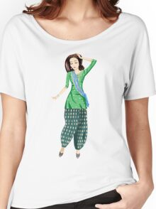 Dancing Bollywood Indian Girl Women's Relaxed Fit T-Shirt