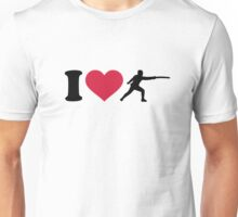 I love Fencing fencer Unisex T-Shirt