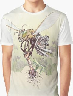 Cyborg Bee Graphic T-Shirt
