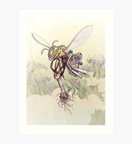Cyborg Bee Art Print