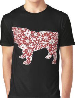 Christmas Snowflakes Bulldog Graphic T-Shirt