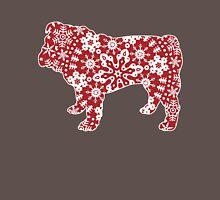 Christmas Snowflakes Bulldog Unisex T-Shirt
