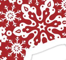Christmas Snowflakes Bulldog Sticker