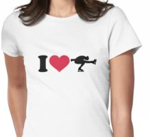 I love Figure skating Womens Fitted T-Shirt