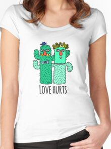 Love Hurts  Women's Fitted Scoop T-Shirt
