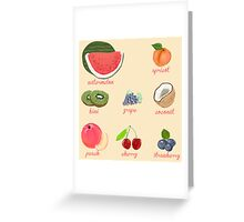 fruit background Greeting Card