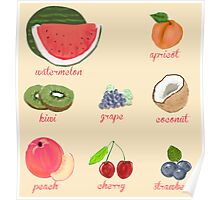 fruit background Poster