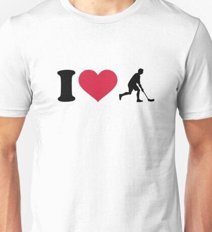 I love Floorball player Unisex T-Shirt
