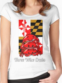Three Wise Crabs Women's Fitted Scoop T-Shirt