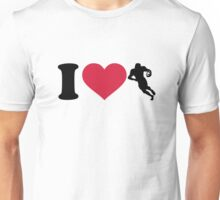 I love Football player Unisex T-Shirt
