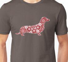 Christmas Snowflakes Dachshund Unisex T-Shirt
