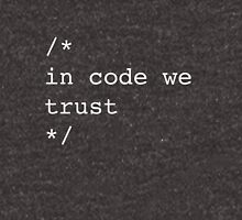 In Code We Trust (White) Unisex T-Shirt