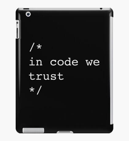 In Code We Trust (White) iPad Case/Skin