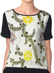 Vintage Floral and Vines Chiffon Top