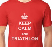 Keep Calm and Triathlon (White) Unisex T-Shirt