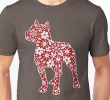 Christmas Snowflakes Pitbull Unisex T-Shirt