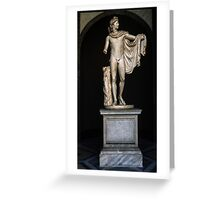 Copy 130 AD of 330 BC Greek sculpture from Agora Athens, Vatican Museum Rome Italy 19840723 0005 Greeting Card