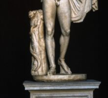 Copy 130 AD of 330 BC Greek sculpture from Agora Athens, Vatican Museum Rome Italy 19840723 0005 Sticker