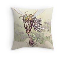 Cyborg Bee Throw Pillow