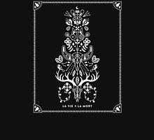 La Vie + La Mort: White Ink Womens Fitted T-Shirt