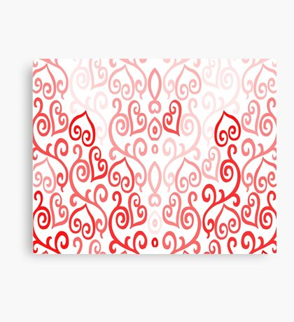 Hearted Pink Canvas Print