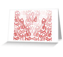 Hearted Pink Greeting Card