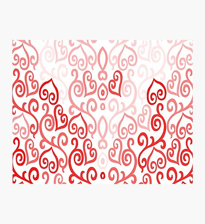 Hearted Pink Photographic Print