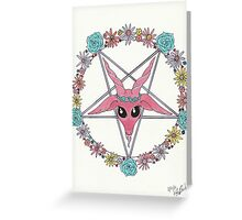 flowery Baphomet Greeting Card