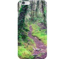 Idyllic footpath in the forest  iPhone Case/Skin