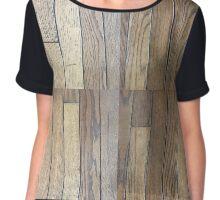 Hardwood Collection #1 - Dark Aged Wood Chiffon Top