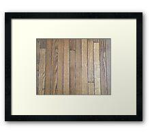 Hardwood Collection #1 - Dark Aged Wood Framed Print